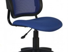 Кресло Бюрократ Ch-297 BL 15-10 спинка синяя сетка сиденье синий 15-10