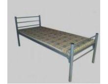 Кровать металлическая одноярусная бытовая Арт.004 без матраса