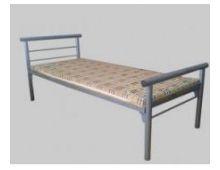 Кровать металлическая одноярусная бытовая Арт.003 без матраса