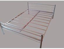 Двуспальная одноярусная металлическая кровать Арт.001