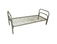 Кровать металлическая одноярусная усиленная Арт.022 для лагеря